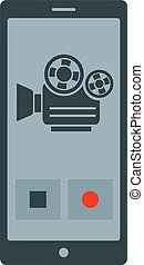 application - Flat image of video phone application