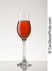 Pink Sparkling wine - Pink rose sparkling wine a in bubbly...