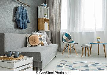 Living room full of brightness