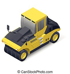 Pneumatic road compactor icon - Pneumatic road compactor...