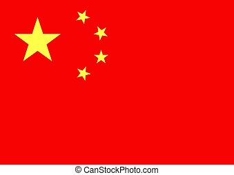 China Flag - Illustrated flag of China