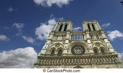 Notre Dame de Paris, also known as Notre Dame Cathedral or...