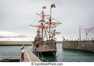 Christopher Columbus flagship Santa Maria replica at...