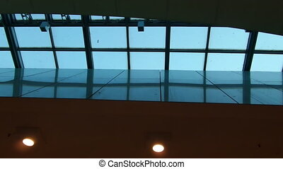 Skylight - Video clip of long rectangular skylight.