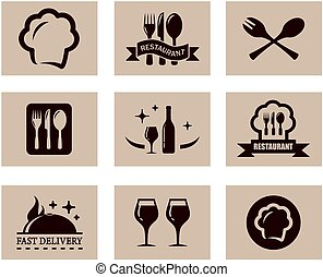 concept restaurant menu set - set of nine concept background...