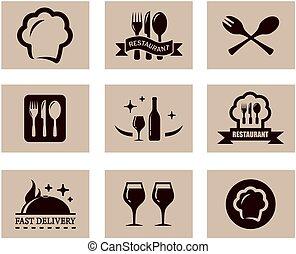concept restaurant menu set - set of nine concept background...