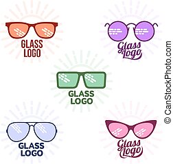 Retro and modern style glasses logo set - Glasses logo set,...