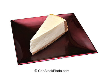 Cheesecake Isolated