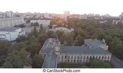 Aerial view of the old building of the university KPI in...