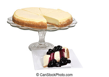 Blueberry Cheesecake Isolated