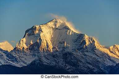 Dhaulagiri I at sunrise, Nepal