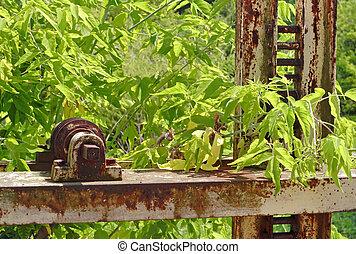 Abandoned rusty mechanism
