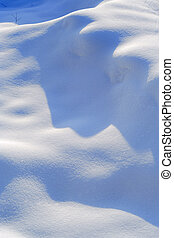 Snow drift - Fresh snow drift with visible texture taken in...