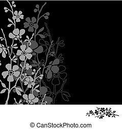 Vector Dark Daisy Frame - Vector decorative frame Easy to...