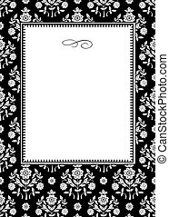 Vector Daisy Ornament Background and Frame