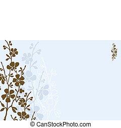 Vector Blue Daisy Background