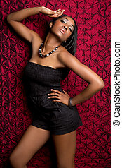 Fashion Model Woman - African American fashion model woman