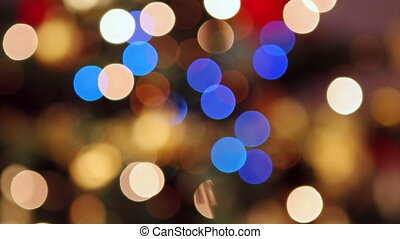 Christmas bokeh lights - Abstract footage of colourful...