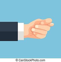 Fig sign boss hand Vector flat cartoon illustration