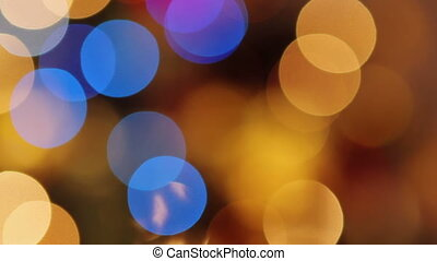 Christmas bokeh lights - Blurred abstract background lights,...