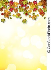 your design with autumn leaves - Design with autumn leaves,...