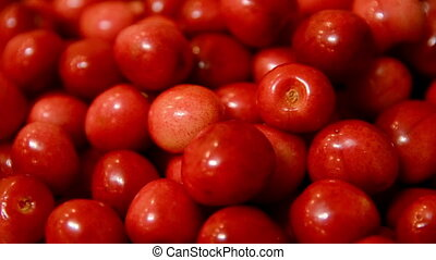 Red cherry background.