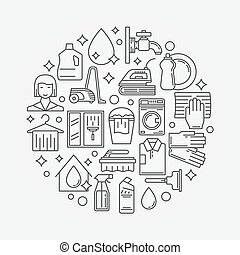 Vector cleaning service illustration