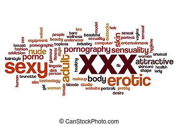 XXX word cloud concept