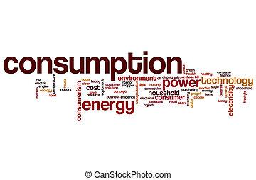 Consumption word cloud concept