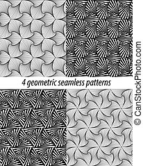4 Paradox zentangle patterns - Set of 4 vector zentangle...