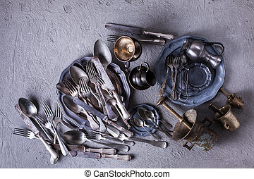 Vintage utensils collection - Vintage cutlery and utensils...