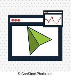 page web internet cursor vector illustration eps 10