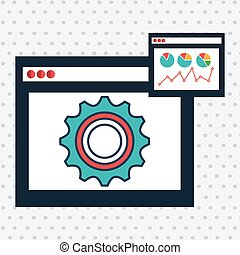 page web internet gear vector illustration eps 10