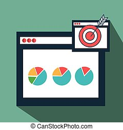 page web internet target vector illustration eps 10