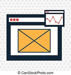 page web internet email vector illustration eps 10