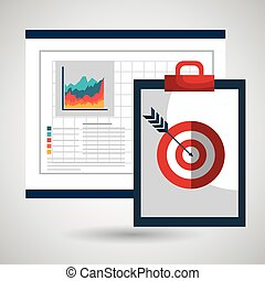 clipboard board target icon vector illustration design