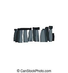 Stonehenge icon, flat style - Stonehenge icon in flat style...