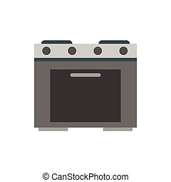 Gas stove icon, flat style - Gas stove icon in flat style...
