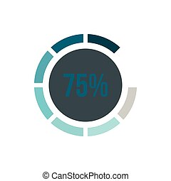 Sign 75 load icon, flat style - Sign 75 load icon in flat...