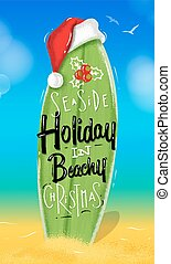 Christmas poster surfboard - Poster Christmas surfboard...