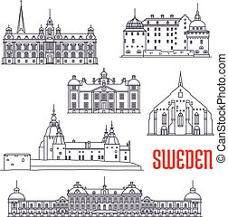 Historic buildings and sightseeings of Sweden - Historic...