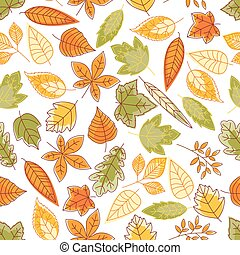 Autumn leaves seamless pattern for nature design - Autumn...