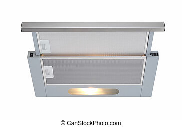 cooker hood - kitchen cooker hood isolated at white...