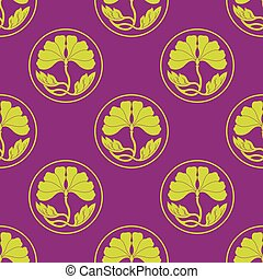 flowers lotus polka dot flat simlpe vector illustraton -...
