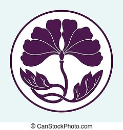 flower lotus flat simlpe pattern vector illustraton - flower...