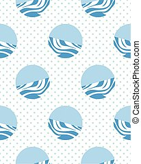 polka dot seamless pattern flat simlpe vector illustraton -...