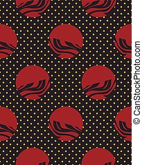 polka dot flat seamless pattern simlpe vector illustraton -...