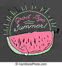 Hand drawn Watermelon 01 A