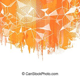 Splashes Orange Background Creative abstract with colorful...