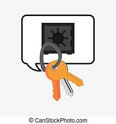 keys and safe deposit box system security design